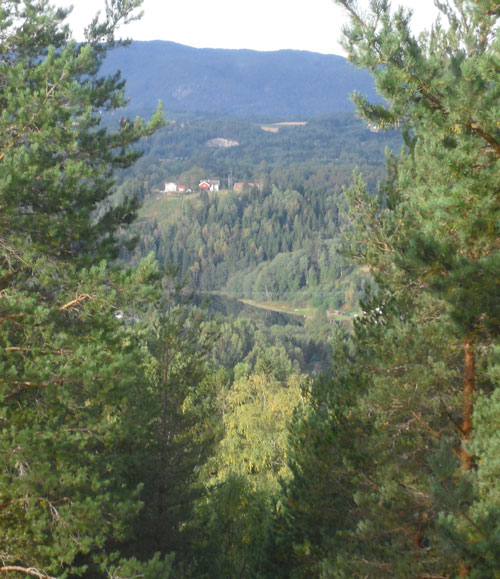 Utsikt fra vinduet mitt den 14. september